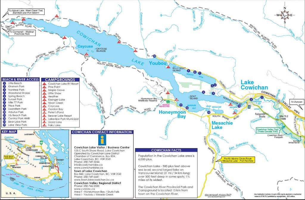 Cowichan Lake Map